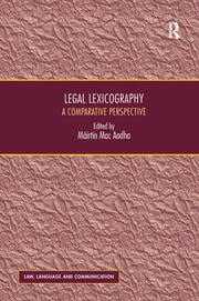 Legal Lexicography: A Comparative Perspective