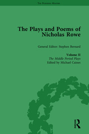 The Plays and Poems of Nicholas Rowe, Volume II: The Middle Period Plays
