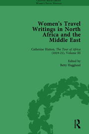 Women's Travel Writings in North Africa and the Middle East, Part II vol 6