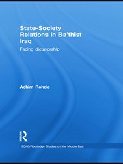 State-Society Relations in Ba'thist Iraq: Facing Dictatorship