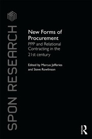 New Forms of Procurement: PPP and Relational Contracting in the 21st Century