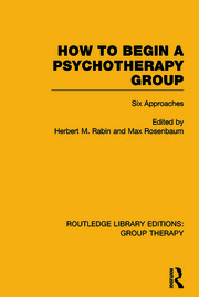 How to Begin a Psychotherapy Group: Six Approaches