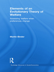Elements of an Evolutionary Theory of Welfare: Assessing Welfare When Preferences Change