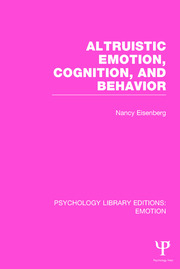 Altruistic Emotion, Cognition, and Behavior