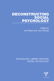Deconstructing Social Psychology