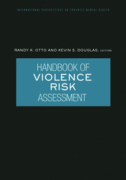 Handbook of Violence Risk Assessment