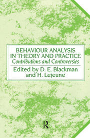 Behaviour Analysis in Theory and Practice