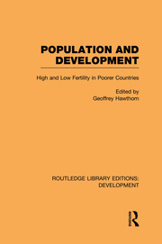 Population and Development: High and Low Fertility in Poorer Countries