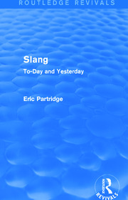 Slang: To-Day and Yesterday