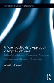 Featured Title - A Forensic Linguistic Approach; Stratman - 1st Edition book cover