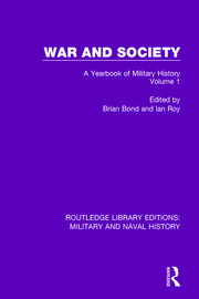 War and Society Volume 1: A Yearbook of Military History