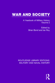 War and Society Volume 2: A Yearbook of Military History