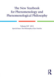 The New Yearbook for Phenomenology and Phenomenological Philosophy: Volume 14, Special Issue: The Philosophy of Jan Patočka