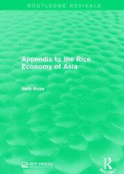Appendix to the Rice Economy of Asia