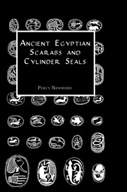 A series of scarab-slzaped seals bearing ornamental devices chiefly composed of hieroglyphic signs symmetrically arranged.
