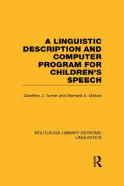 A Linguistic Description and Computer Program for Children's Speech