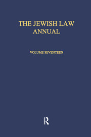 The Jewish Law Annual Volume 17