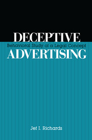 Deceptive Advertising: Behavioral Study of A Legal Concept