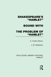 "Shakespeare's ""Hamlet"" bound with The Problem of Hamlet"