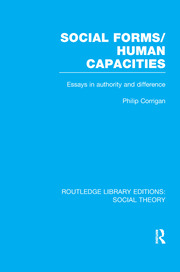 Social Forms/Human Capacities (RLE Social Theory): Essays in Authority and Difference