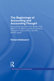The Beginnings of Accounting and Accounting Thought