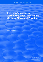 Instructors Manual to Accompany Linear Algebra and Ordinary Differential Equations