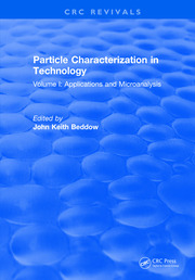 Particle Characterization in Technology: Volume I: Application and Microanalysis