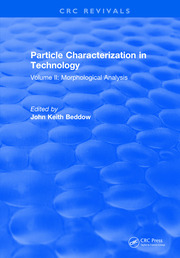 Particle Characterization in Technology: Volume II: Morphological Analysis