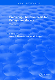 Predicting Photosynthesis For Ecosystem Models: Volume II