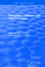 Subsurface Transport and Fate Processes
