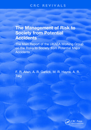The Management of Risk to Society from Potential Accidents: The Main Report of the UKAEA Working Group on the Risks to Society from Potential Major Accidents