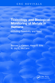Toxicology Biological Monitoring of Metals in Humans