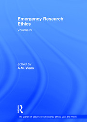 Emergency Research Ethics: Volume IV
