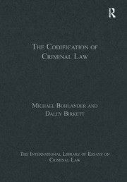 The Codification of Criminal Law