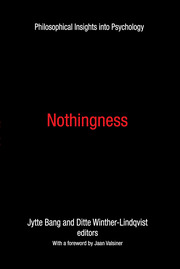 Nothingness: Philosophical Insights into Psychology