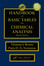 CRC Handbook of Basic Tables for Chemical Analysis 3ED