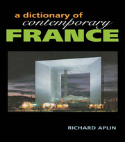 Dictionary of Contemporary France