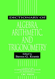 Dict of Algebra Arithmetic & Trigonometry - 1st Edition book cover