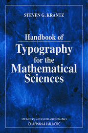 Hdbk of Typography for Mathl Scis - 1st Edition book cover