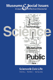 Science & Civic Life: Museums & Social Issues 4:1 Thematic Issue