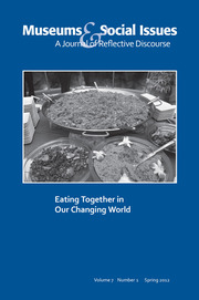 Eating Together in Our Changing World: Museums & Social Issues 7:1 Thematic Issue
