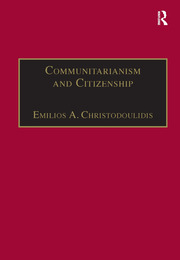 Communitarianism and Citizenship