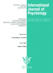 Counselling in Australia: A Special Issue of the International Journal of Psychology