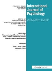 Neuropsychological Functions Across the World: A Special Issue of the International Journal of Psychology