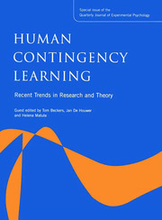 Human Contingency Learning: Recent Trends in Research and Theory: A Special Issue of the Quarterly Journal of Experimental Psychology