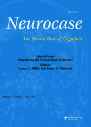 Elucidating the Neural Basis of the Self: A Special Issue of Neurocase
