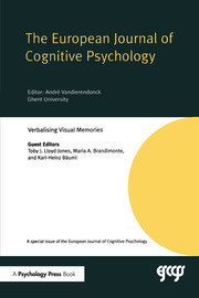 Verbalising Visual Memories: A Special Issue of the European Journal of Cognitive Psychology