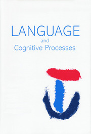 Language Production: Third International Workshop on Language Production: A Special Issue of Language and Cognitive Processes