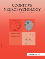 The Mental Lexicon: A Special Issue of Cognitive Neuropsychology