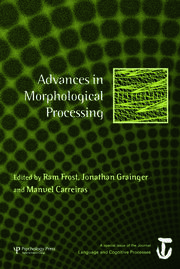Advances in Morphological Processing: A Special Issue of Language and Cognitive Processes